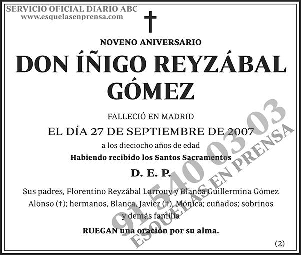 Íñigo Reyzábal Gómez